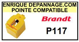BRANDT Platine P117 P-117 Pointe compatible diamant sphérique <br>sce