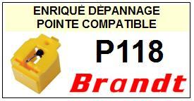 BRANDT <br>Platine P118  Pointe diamant sphérique <BR><small>se 2014-10</small>