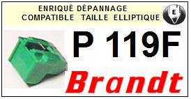 BRANDT <br>Platine P119F  Pointe diamant elliptique <BR><small>sce 2014-10</small>