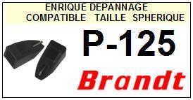 BRANDT<br> P125 P-125 Pointe sphérique pour tourne-disques <BR><small>sce 2015-03</small>