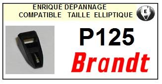 BRANDT<br> P125 Pointe (stylus) elliptique pour tourne-disques<SMALL> 2015-09</small>