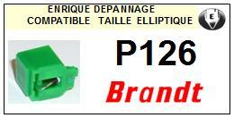 BRANDT<br> P126 Pointe (stylus) elliptique pour tourne-disques <BR><small>sce 2015-05</small>