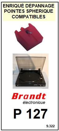BRANDT<br> P127  Pointe (stylus) sphérique pour tourne-disques <BR><small>a 2015-08</small>
