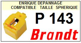 BRANDT Platine P143 P-143 Pointe diamant sphérique <small>SCE 13-08</small>