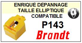 BRANDT Platine  P143    Pointe de lecture compatible diamant elliptique SCE