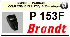 BRANDT Platine P153F (2°montage) Pointe diamant elliptique <BR><small>se 2014-03</small>