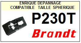 BRANDT<br> P230T  Pointe elliptique pour tourne-disques <BR><small>se 2015-01</small>