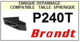 BRANDT Platine P240T  Pointe diamant sphérique <BR><small>a 2014-04</small>