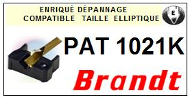 BRANDT<br> PAT1021K  Pointe elliptique pour tourne-disques <BR><small>se 2015-01</small>