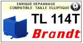BRANDT Platine TL114T  Pointe diamant elliptique <BR><small>se 2014-03</small>