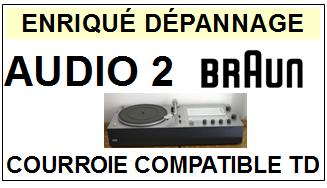 BRAUN-AUDIO 2-COURROIES-ET-KITS-COURROIES-COMPATIBLES