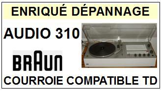 BRAUN-AUDIO 310-COURROIES-ET-KITS-COURROIES-COMPATIBLES