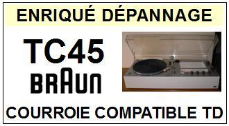 BRAUN-TC45-COURROIES-ET-KITS-COURROIES-COMPATIBLES