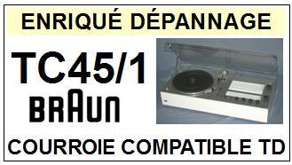 BRAUN-TC45/1-COURROIES-ET-KITS-COURROIES-COMPATIBLES
