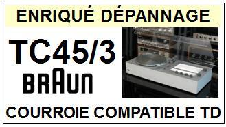 BRAUN-TC45/3-COURROIES-ET-KITS-COURROIES-COMPATIBLES