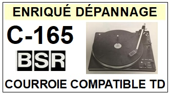BSR-C165 C-165-COURROIES-ET-KITS-COURROIES-COMPATIBLES