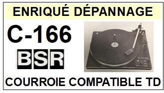 BSR-C166 C-166-COURROIES-ET-KITS-COURROIES-COMPATIBLES