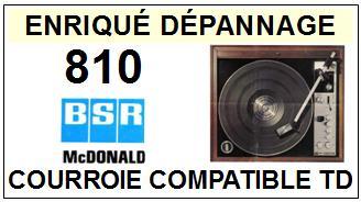BSR-MC DONALD 810-COURROIES-ET-KITS-COURROIES-COMPATIBLES
