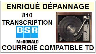 BSR-MC DONALD 810 TRANSCRIPTION-COURROIES-ET-KITS-COURROIES-COMPATIBLES