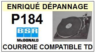 BSR MCDONALD-P184-COURROIES-ET-KITS-COURROIES-COMPATIBLES