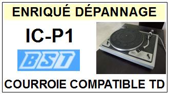 BST ICP1 IC-P1 <br>courroie d\'entrainement pour tourne-disques (<b>flat belt</b>)<small> 2016-01</small>