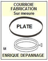 FLAT BELT BTT125 B-TT125 <br>courroie référence flat_belt (flat belt manufacturer number)<small> 2015-12</small>
