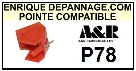 A&R CAMBRIDGE P78 Pointe de lecture compatible diamant sphérique