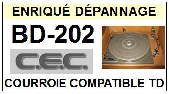 CEC CHUO DENKI-BD202 BD-202-COURROIES-ET-KITS-COURROIES-COMPATIBLES