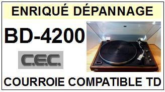 CEC CHUO DENKI-BD4200 BD-4200-COURROIES-ET-KITS-COURROIES-COMPATIBLES