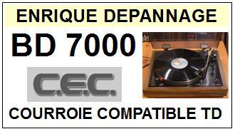 CEC CHUO DENKI-BD7000 BD-7000-COURROIES-ET-KITS-COURROIES-COMPATIBLES