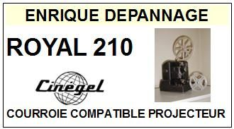 CINEGEL-ROYAL 210 BOBINE-COURROIES-ET-KITS-COURROIES-COMPATIBLES