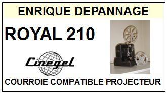 CINEGEL-ROYAL 210 MOTEUR-COURROIES-ET-KITS-COURROIES-COMPATIBLES
