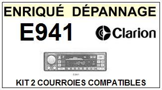 CLARION-E941 E-941-COURROIES-ET-KITS-COURROIES-COMPATIBLES