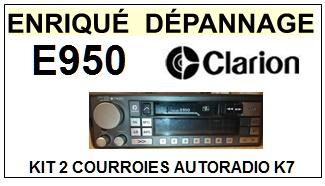 CLARION-E950-COURROIES-ET-KITS-COURROIES-COMPATIBLES