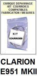 CLARION-E951MKII E951 MKII-COURROIES-ET-KITS-COURROIES-COMPATIBLES