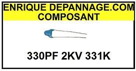 CONDENSATEUR IMPULSION  330PF 2KV 482212611254  331K  2KV 2015-02