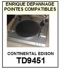 CONTINENTAL EDISON-TD9451-POINTES-DE-LECTURE-DIAMANTS-SAPHIRS-COMPATIBLES