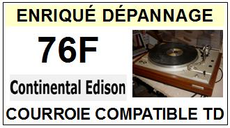 CONTINENTAL EDISON-76F-COURROIES-ET-KITS-COURROIES-COMPATIBLES
