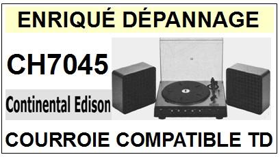CONTINENTAL EDISON-CH7045-COURROIES-ET-KITS-COURROIES-COMPATIBLES