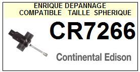 CONTINENTAL EDISON CR7266  <br>Pointe diamant sphérique pour tourne-disques (stylus)<SMALL> 2015-11</SMALL>