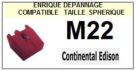 CONTINENTAL EDISON M22 <br>Pointe Diamant sphérique (stylus)<BR><small> 2015-11</small>