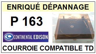 CONTINENTAL EDISON-P163-COURROIES-ET-KITS-COURROIES-COMPATIBLES