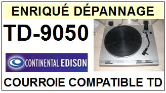continental edison td9050 courroie plate d 39 entrainement tourne disques flat belt 2017 01 16. Black Bedroom Furniture Sets. Home Design Ideas