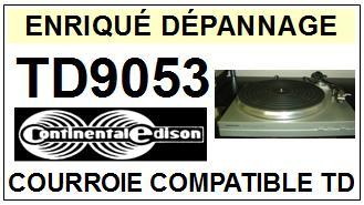 continental edison td9053 courroie flat belt tourne disques sce 2015 02 17 euros. Black Bedroom Furniture Sets. Home Design Ideas