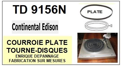 CONTINENTAL EDISON-CONTINENTAL EDISON TD9156N  Courroie pla-COURROIES-ET-KITS-COURROIES-COMPATIBLES