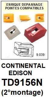 CONTINENTAL EDISON TD9156N (2°montage) <br>Pointe sphérique pour tourne-disques  (stylus)<small> 2015-12</small>