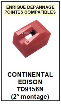 CONTINENTAL EDISON TD9156N (2°montage) <br>Pointe sphérique pour tourne-disques  (<b>sphérical stylus</b>)<small> 2017 OCTOBRE</small>
