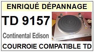 CONTINENTAL EDISON-TD9157 TD-9157-COURROIES-ET-KITS-COURROIES-COMPATIBLES