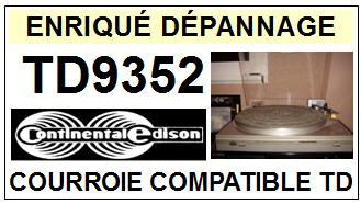 CONTINENTAL EDISON-TD9352 TD-9352-COURROIES-ET-KITS-COURROIES-COMPATIBLES