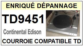 CONTINENTAL EDISON-TD9451-COURROIES-ET-KITS-COURROIES-COMPATIBLES
